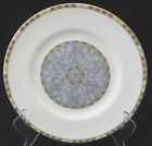WEDGWOOD CORINTH SALAD PLATE BLUE AND GRAY BLOCK EDGE GRAY LEAF CENTER mint
