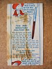 1955 Bazooka and or Topps? Wax Wrapper or Insert RARE Pen Offer