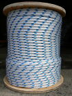 Sailboat Rigging Rope 5 16 x 100 White Blue Double Braided Sheet Halyard Line
