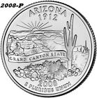 2008-P UNCIRCULATED ARIZONA STATE QUARTER - I HAVE ALL P&D STATE QUARTERS