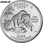 2008-P ALASKA UNCIRCULATED STATE QUARTER - I HAVE ALL P&D STATE QUARTERS