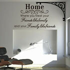 Home Removable Vinyl  Quote   Art Home Decor DIY Creative Wall Stickers Family