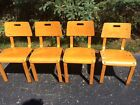 Set of 4 THONET Bentwood Oak Childs Chairs