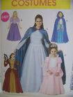 McCalls Costume Pattern Princess FairyTale Gown & Cape  M6420 Miss S-XL Easy Sew