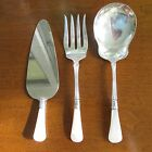 3 Vintage Mother of Pearl Sterling & Silverplate Serving Pieces Flatware