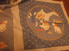 Lot of 8 Pillow Panels Fabric Sewing Crafts Frame Quilting Cat Deer Flower Eagle