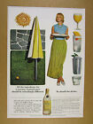 1963 Seagram's Gin pretty woman summer cocktail party drinks vintage print Ad