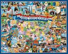 White Mountain Puzzles United States of America - 1000 Piece Jigsaw Puzzle, New