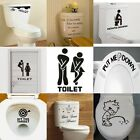 Toilet Seats Art Wall Stickers Quote Bathroom Decoration Decal Vinyl Home Decor