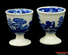 Spode Copeland Tower Blue Older Gadroon Mark Transferware Floral Single Egg Cups