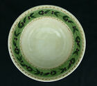 Oliveto Oneida Soup Cereal Bowl Rimmed Olives Vines Lines Tan Green Hand Painted