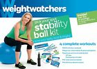 Weight Watchers Pick Your Spot Stability Ball Kit DVD W Four Workouts Free Ship