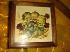 VTG ESTATE FRENCH SHABBY REUGE HUMMEL KIDS PICTURE SWISS MUSIC JEWELRY BOX LOT 2