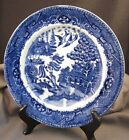 Antique Staffordshire Flow Blue Willow Highly Detailed Plate