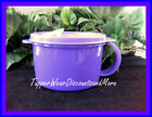 Tupperware NEW CRYSTALWAVE SOUP Cup LUNCH MUG BOWL DK PURPLE Microwave