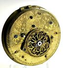 LARGE 49MM KWKS EARLY VERGE FUSEE POCKET WATCH MOVEMENT (99)