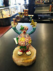Rare RON LEE 1982 easter clown  Sculpture with onax base easter colors