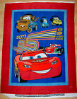 A DISNEY CARS PIXAR WITH MCQUEEN AND MATER FLEECE FABRIC PANEL