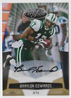 BRAYLON EDWARDS 2010 Certified GOLD AUTO SP # 25 ONLY 25 SIGNED + (5) 2005 RC