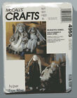 MCCALL'S CRAFTS 4955 RAG DOLL BUNNY RABBIT + CLOTHES 2 SIZES EASTER FAYE WINE UC