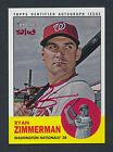 Ryan Zimmerman 2012 Topps Heritage Real One RED INK Autograph Auto 52 63