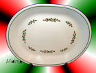 12 inch-Corelle Large Oval PLATTER -HOLLY Winter Corning Plate Serving Christmas