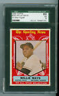 Willie Mays 1959 Topps All Star Card #563 High Number SF Giants SGC 60 EX 5