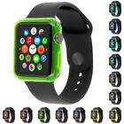 Soft Slim TPU Protection Bumper Frame Case Cover for Apple Watch 38mm 42mm