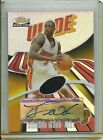 DWYANE WADE 2003-04 Topps Finest RC Jersey Auto 250 Refractor Autograph Card