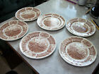 """6 Vintage Alfred Meakin Staffordshire """"Fair Winds"""" Dinner Plates"""