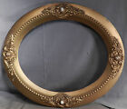 Antique Victorian OVAL Gesso Gilt Wood Picture Frame Gold 16x13 Mirror Baroque