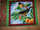 AN ORIOLE BIRD SWEET MELODY COTTON QUILTING FABRIC PANEL