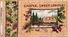 A HOME AWAY FROM HOME CAMPER, SWEET CAMPER COTTON QUILTING FABRIC PANEL