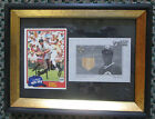 TONY PEREZ AUTO SIGNED AND GAME USED BAT CARDS FRAMED REDS & RED SOX