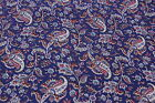 Joan Kessler For Concord Blue Floral Print Cotton 2 3/4 Yds x 44
