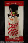 Fitz and Floyd Snack Therapy Christmas Snowman Server Tray Dish Plate Canape Box