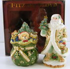 Fitz and Floyd WINTER WONDERLAND Salt and Pepper Shakers NIB 19/2105