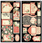 Graphic45 Die Cuts MON AMOUR TAGS  POCKETS scrapbooking VINTAGE ROMANCE