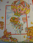 Sky High Baby Quilt Panel Fabric 3 tops Hot Air Balloon cotton sew craft red n