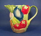 Fitz & Floyd Vegetable Garden Pitcher Majolica Embossed 56 oz. 1 3/4 Qts. 1986