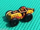 WORKS-VINTAGE MARX WIND-UP METAL TIN LITHO #5 BOAT TAIL RACE CAR MIGET RACER TOY