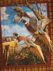 Crested Ringneck Pheasant David Maass Wall BY THE PANEL Fabric cotton quilt