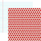 Reminisce RED APPLE 12x12 Dbl Sided 2PCS Scrapbooking Paper NOTEBOOK PAPER