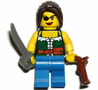 LEGO PIRATE GIRL MINIFIGURE Female Ship Wench with Sword/Gun