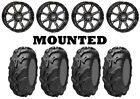 Kit 4 ITP Mayhem Tires 26x9-12/26x11-12 on STI HD4 Gloss Black Wheels IRS