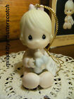 Precious Moments ORNAMENT Babys First Christmas 1985 girl 15911 baby bottle