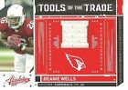 2010 Absolute Tools of the Trade Red Material BEANIE WELLS Jersey #/60 Cardinals