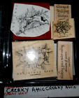 STAMPIN UP CHRISTMAS CARDINAL 5 RUBBER STAMPS BIRD FLOWERS