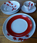 New w Sticker Mikasa Pure Red Dinner Salad Plate Bowl Cup & Saucer Choose BU1