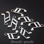 199pcs Antiqued Style Silver Alloy Musical Note Pendant Charms 138mm 50041